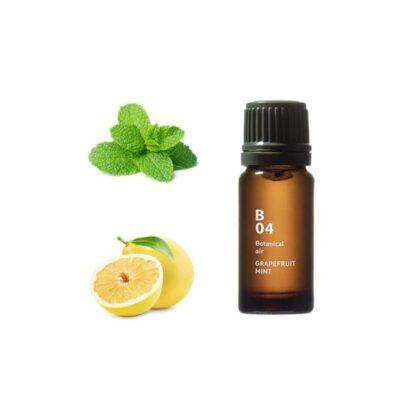 De Botanical air B04 verlicht en laat een verfrissend gevoel in je achter Ingrediënten: grapefruit, pepermunt, groene munt