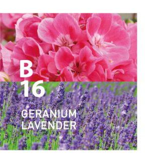 Botanical Air B16 is puur en helder met het delicate parfum van verse bloemen Ingrediënten: Geranium, lavendel, citroen