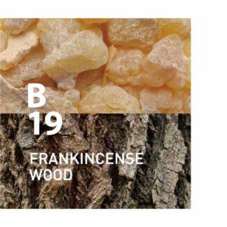 De B19 frankincense wood heeft een luxe elegantie en sereniteit voor diepe ontspanningIngrediënten: wierook, howood, sandelhout