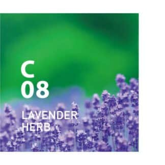 Clean Air C08 LAVENDER HERB is clean air van AT AROMA. is een kalmerende bloemenkruidengeur die de luchtzuiverende kracht van Sakhalin-spar gebruikt. Ingrediënten: Sakhalin-spar, lavendel, etc.