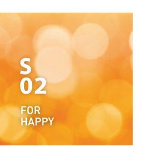 Supplement Air S02 For Happy.Sinaasappel en jasmijn zorgen voor een opgewekte, opgewekte stemming. Ingrediënten: sinaasappel, jasmijn, mandarijn, geranium, mandarijn, enz.