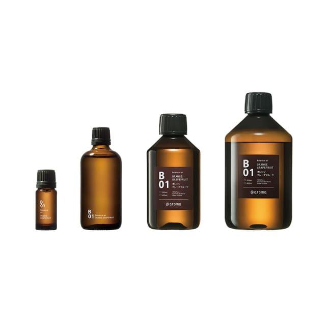 Referentiefoto van allle verschillende groottes waarin de aroma's verkrijgbaar zijn: 10ml, 100ml, 250ml, 450ml