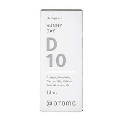 Design air D10 SUNNY DAY bottle in verpakking geplaatst