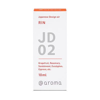 Japanese design air JD02 RIN Een zacht aroma, omgeven door frisse lucht met soepelheid en kracht als kern. Ingrediënten: grapefruit, rozemarijn, sandelhout, eucalyptus, cipres, enz. in package