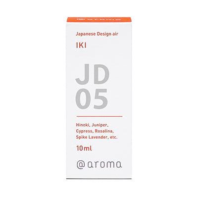 Japanese design air jd05 Iki. Een aroma van gratie en wijsheid, gemaakt met een fijngevoelige gevoeligheid. Ingrediënten: Hinoki, Juniper, Cypress, Rosalina, Spike-lavendel, etc. in verpakking