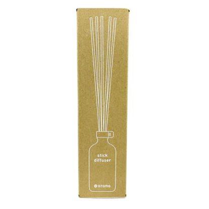 Stick diffuser in gele verpakking is een geursysteem van At-Aroma
