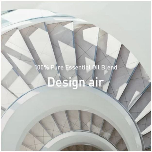 Design air etherische olie lineup preview foto