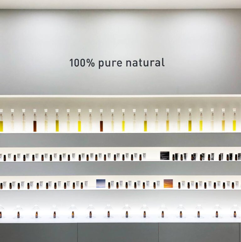 100% natuurlijke ingrediënten van AT-AROMA om de ideale deurbeleving te maken